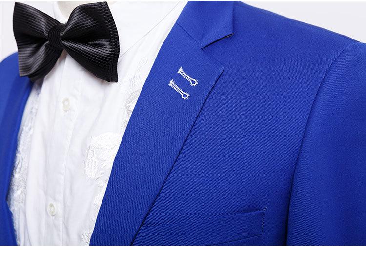 2016 newest famous design latest fashion navy blue groom suits men ...