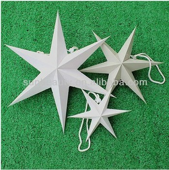christmas stars 3d folding decorations paper star