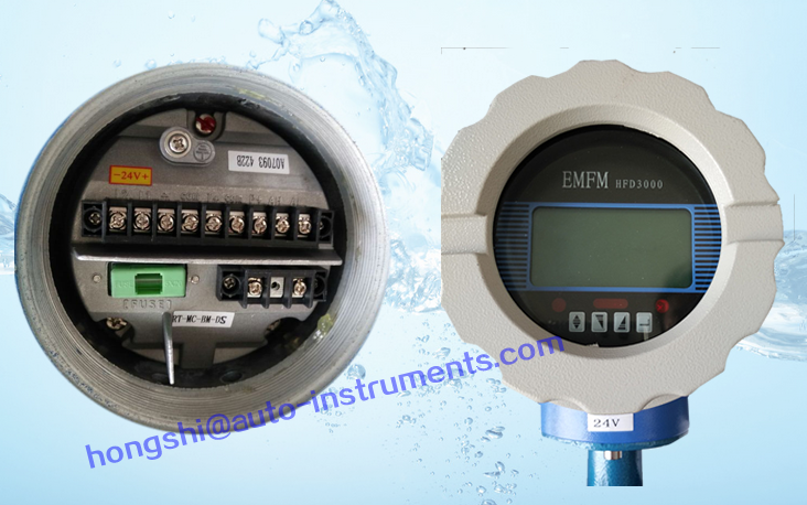Smart flange connection electromagnetic flowmeter with