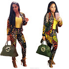 hot new products two pieces fashion wholesale clothing dashiki fabric bomber woman varsity jacket jumpsuit