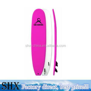 "SHX Surf Wave Board 9'0"" Soft Surf Board, Pink"