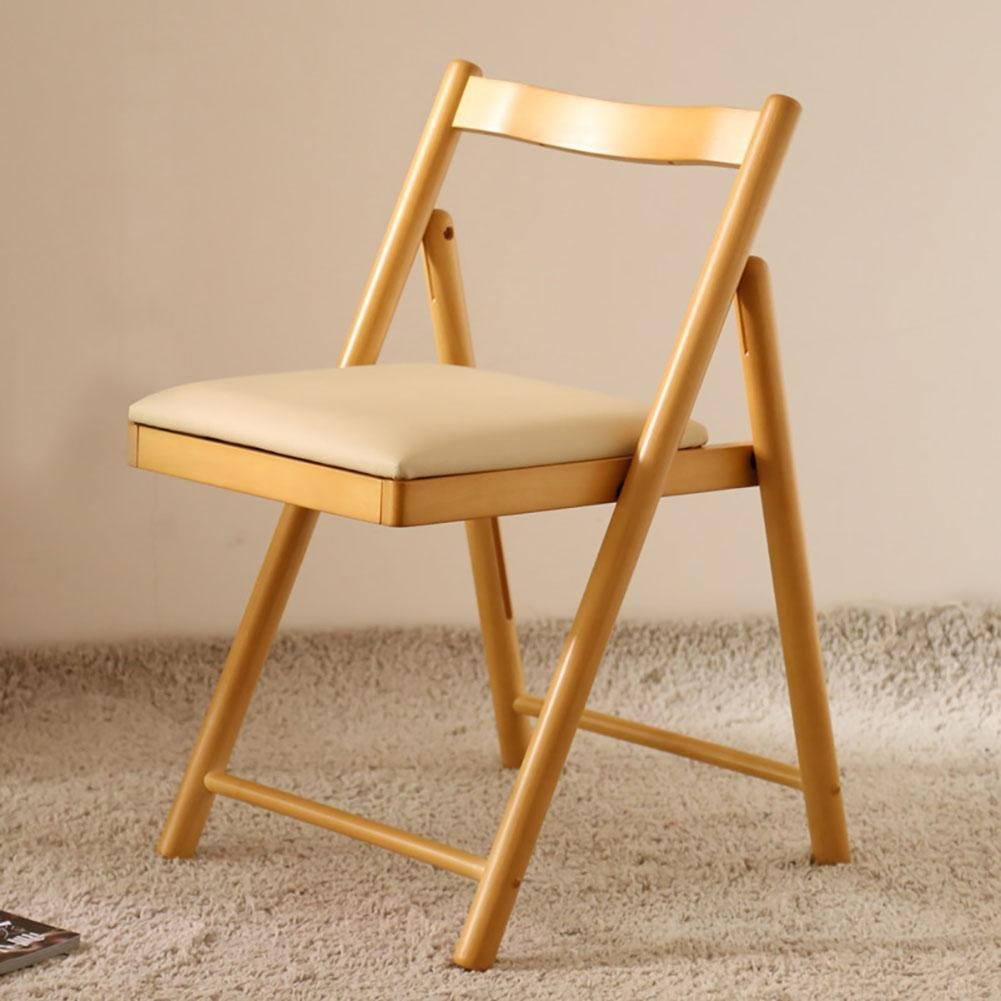 Folding wooden chair Solid wood Ergonomics Living room chairs / stools Dining chair Backrest chair Desk and chair Student chair Leisure Balcony chair Backrest chair office chair Rubber wood Foldable