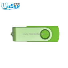 Custom logo plastic swivel USB flash drives