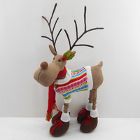 41CM four legs standing christmas wooden deer decoration