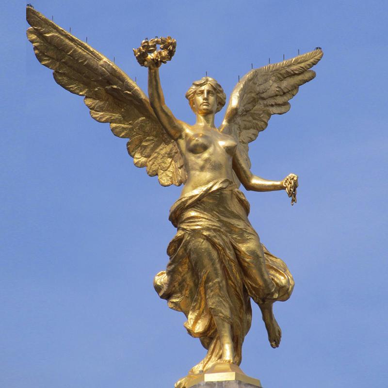 Life Size Gold Bronze Half-naked Angel Athena With Olive Wreath Sculpture -  Buy Bronze Half-naked Angel Athena With Olive Wreath Sculpture,Half-naked