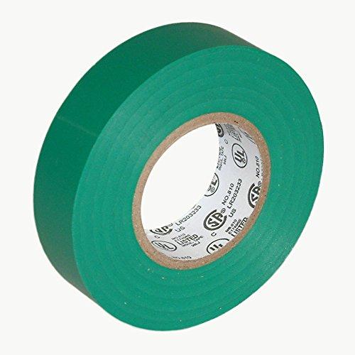 "J.V. Converting E-TAPE/GRN07522 JVCC E-Tape Colored Electrical Tape, 66' Length x 3/4"" Width, Green, green"