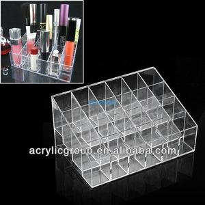 Manufacturer supplies exquisite acrylic cosmetic display for eyeshadow