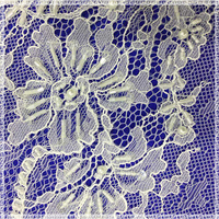 Wedding gown bridal lace fabric wholesale 3d flowers tulle fabric lace material for designer dress