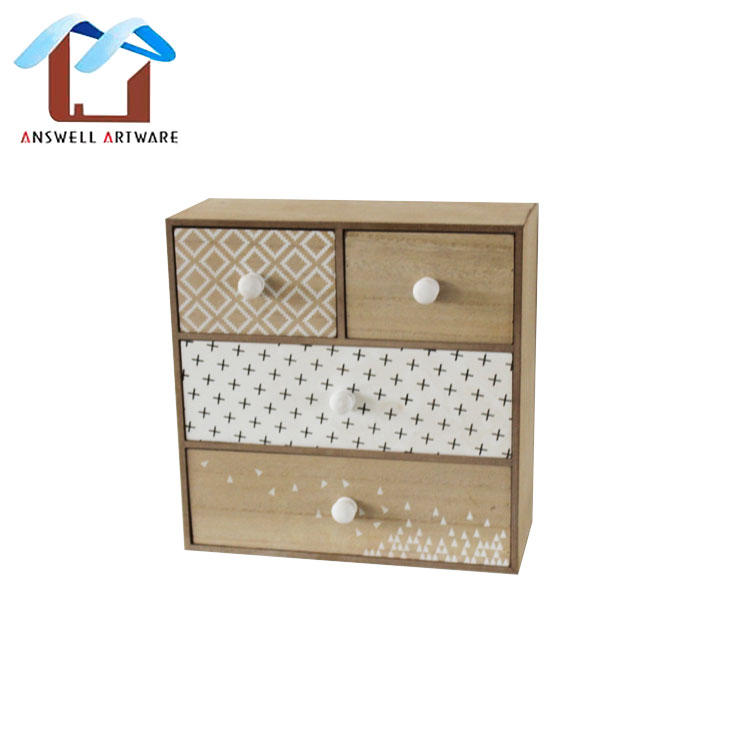 Leather Handle Wooden Storage Box Mini