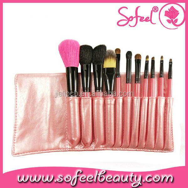 Sofeel 11pcs pink professional make up brushes