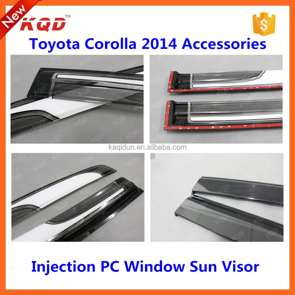 cars accessories toyota corolla rain guards visor for body kit corolla 2 colors car sun visor for corolla accessorio