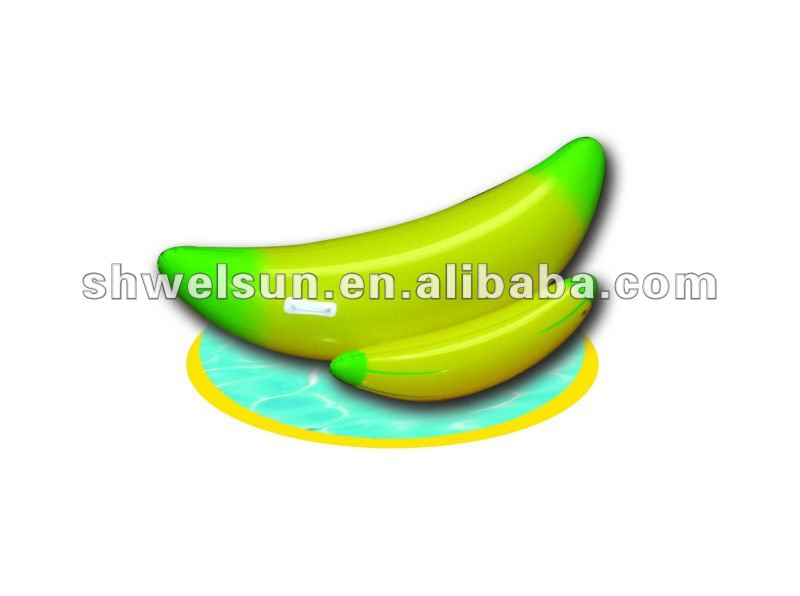 Banana inflable flotador