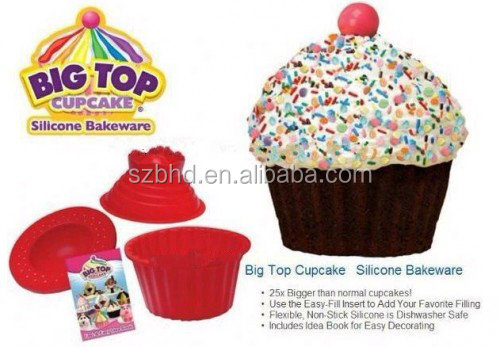 Diy Silicone Big Jumbo Giant Top Cupcake Mould Molds Pan