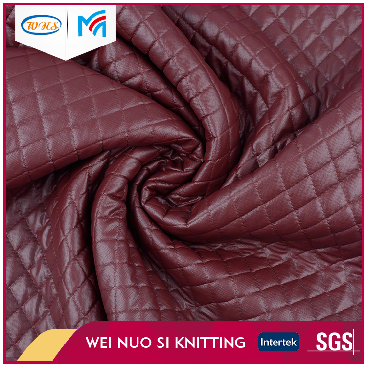High quality new arrival beautiful wine red <strong>poly</strong> scuba interlock fabric