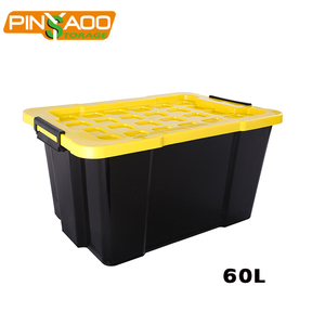 High quality professional made wholesale 60L storage box warehouse plastic storage trunk