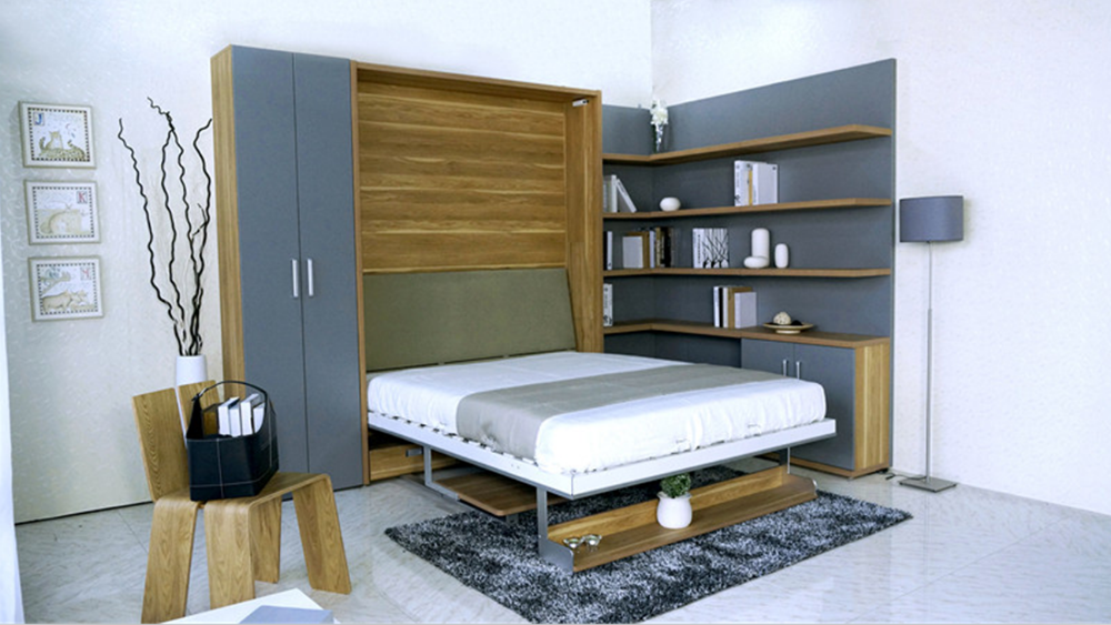Modern Single Hidden Furniture Murphy Bed Wall Bed Desk