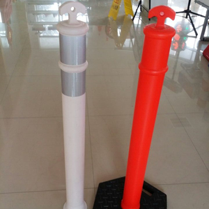 4.8inch Plastic warning bollard rubber base warning post high quality warning post road safety post