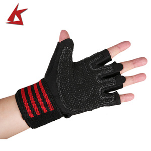 KS-6015#Gym Gloves With Wrist Support for Weight lifting Workout Fitness & Cross Training