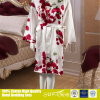 Romantic rose pattern silk fabric women night dress clothes