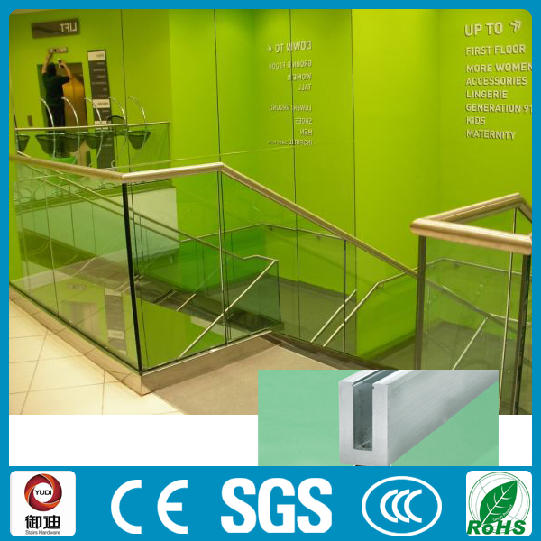 Customised u channel <strong>aluminium</strong> glass balustrade for sale