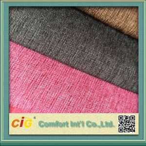 Polyester Material Hot Sell Sofa Use Like Linen Fabric