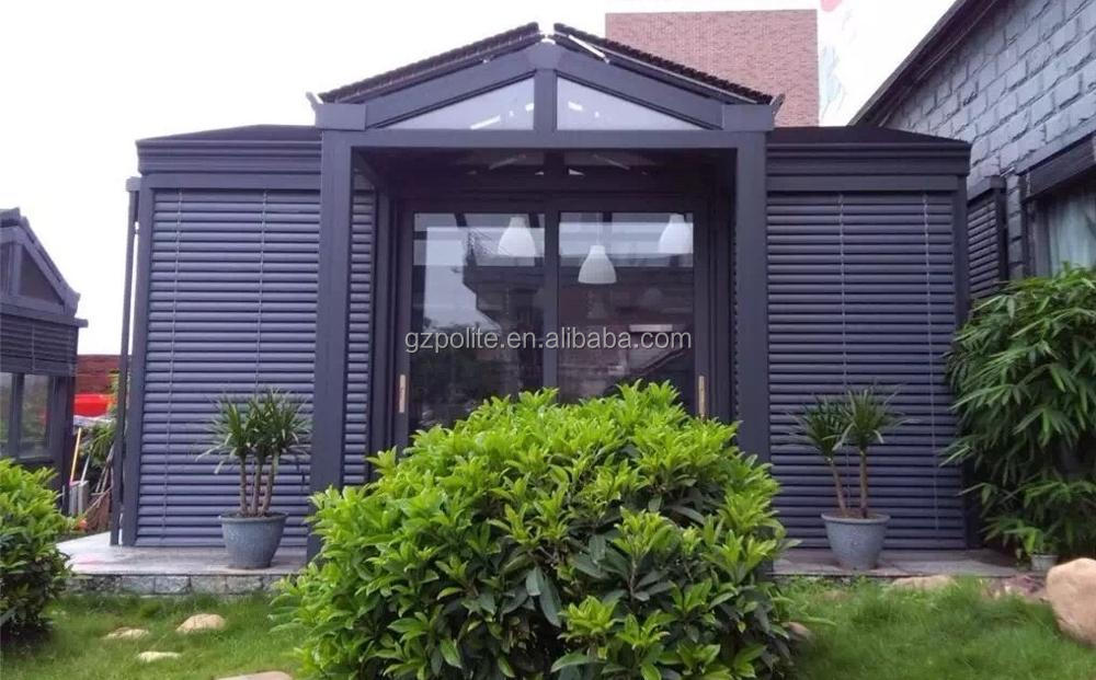 Pd6200 Outdoor Aluminum Venetian Blinds With 50mm And 80mm
