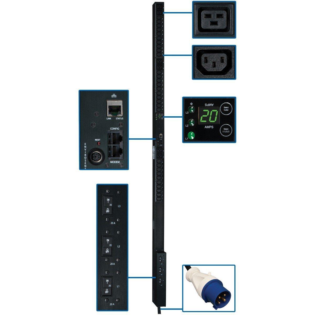 Tripp Lite Monitored PDU3VN3G60 36-Outlets 12.6kVA PDU