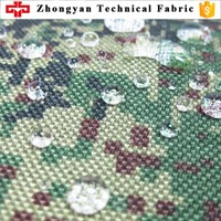 1000D nylon waterproof Turkey camouflage pattern fabric for military use