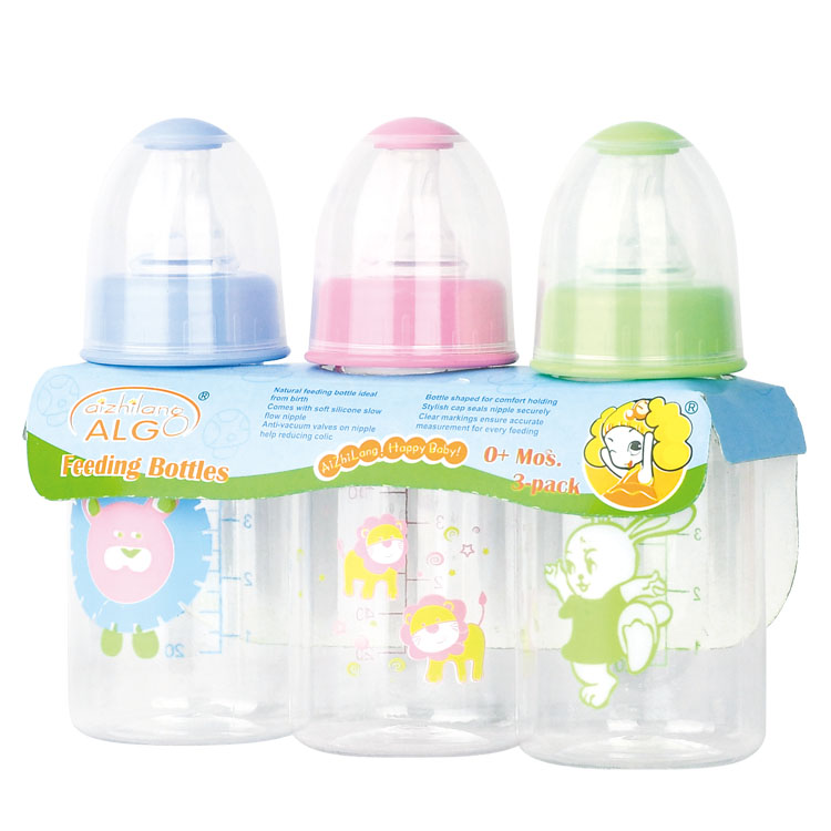 Cute animals bpa free PP baby bottle 3pcs/pack 240ml feeding bottle