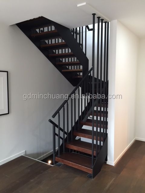 Metal Stairs With Wood Treads, Metal Stairs With Wood Treads Suppliers And  Manufacturers At Alibaba.com
