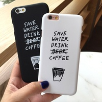 Fashion Case with Funny Letters Cover for iPhone X/8/8 Plus/7/7 Plus/6s/6s Plus PC Hard Painting Shell