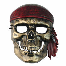 2017 Wholesale Halloween Plastic Masquerade Party Mask Skull Pirate Mask