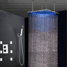 Wholesale shower led multi color recessed ceiling shower head ...