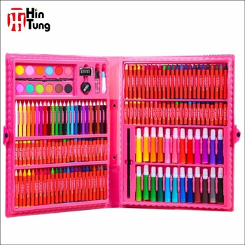 168pcs Pvc Case Coloring Art Set For Kids Buy Kids Travel Art Set