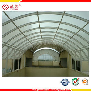 9 years Golden good quality policarbonato polycarbonate profile sheet roof window and skylight China manufacturer