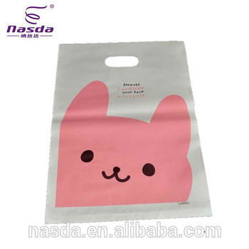 Promotional Plastic Gift Bag Carry Design Clear With Carton Printing