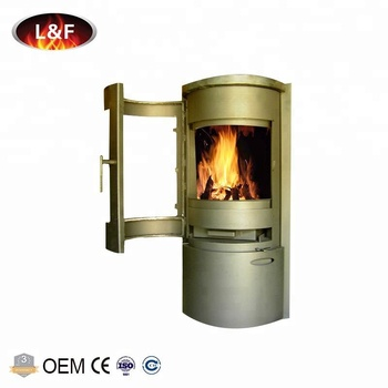 2018 Circular Freestanding Cast Iron Kit Wood Burning Barrel Stove