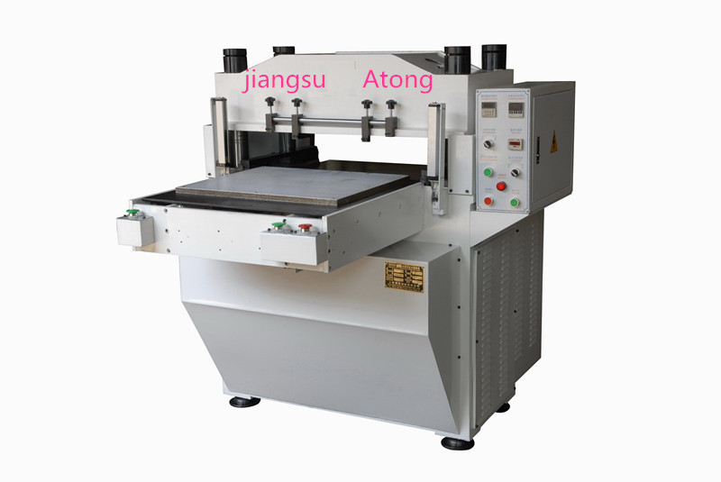 Hydraulic leather plating machine