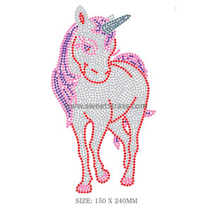Garment decorative customise rhinestone motif horse iron on