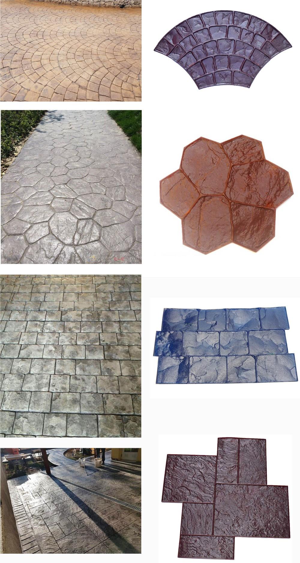 Piedra Huella Textura Decorativo De Hormigón Cemento Sello Mat Silicona Estampado