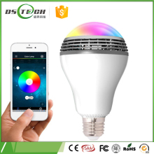 bulk production In Stock E27 6w Playing Music RGB color change LED Music Bulb lamp controlled by cell phone