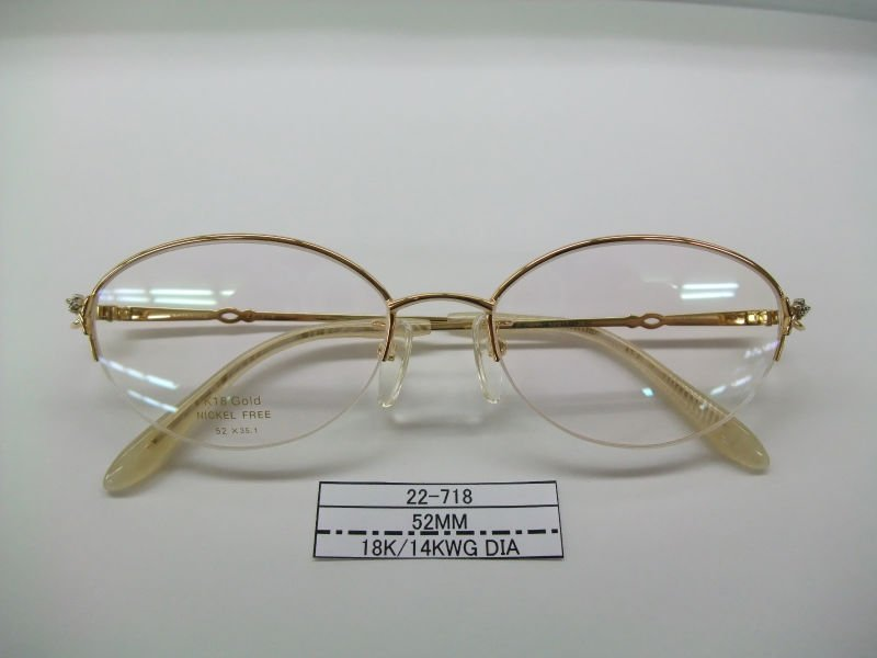 Glasses Frames In Gold : 18k gold spectacle frame gold eyewear frame spectacles ...