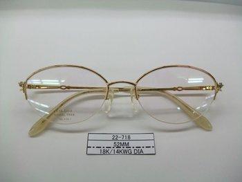 18k Solid Gold Eyeglass Frames : Optical Frame (18k Solid Gold Frame) Eyeglasses Lenses ...