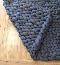 Wholesale Excellent Hand Knitted Throw Blanket