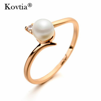 cheap price pearl ring design in 2 grams real gold plated pearl