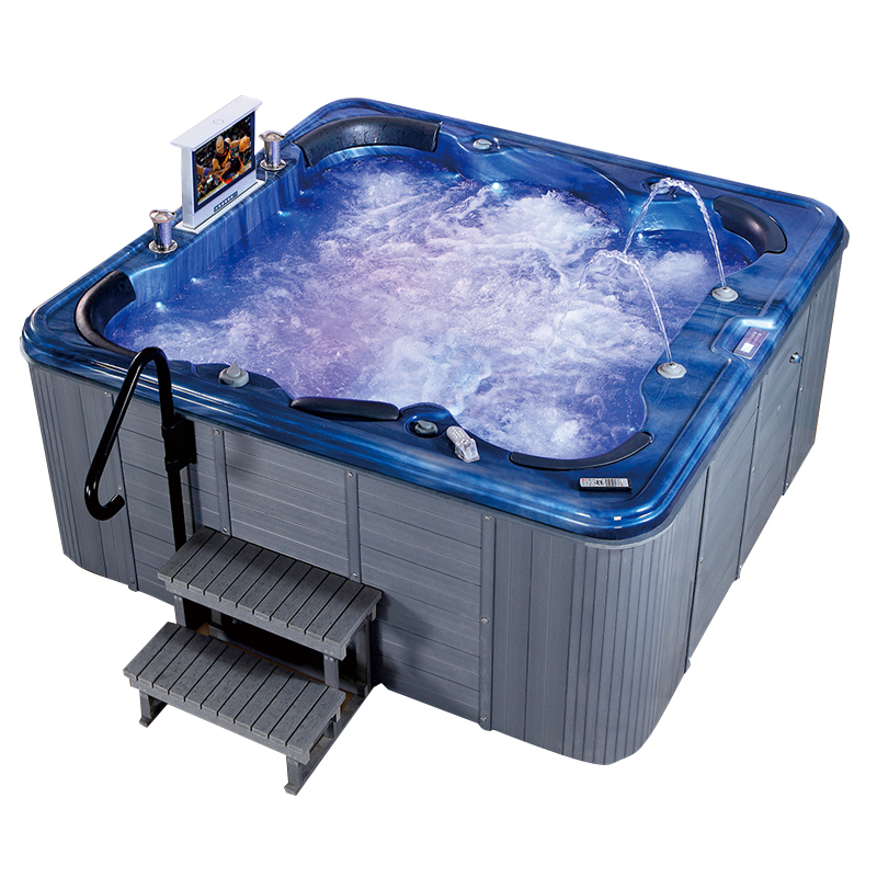 2.35 m lengte 180 jets outdoor jet zwembad whirlpool hot tub bubble spa met ozon