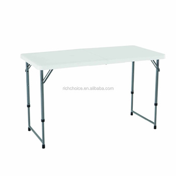 Height Adjustable Folding Buffet Table Dining Table