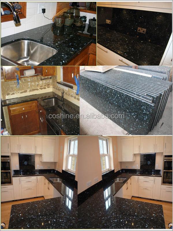 Natürlichen Schwarzen Emerald Pearl Granit Preis Für Die Küche ...