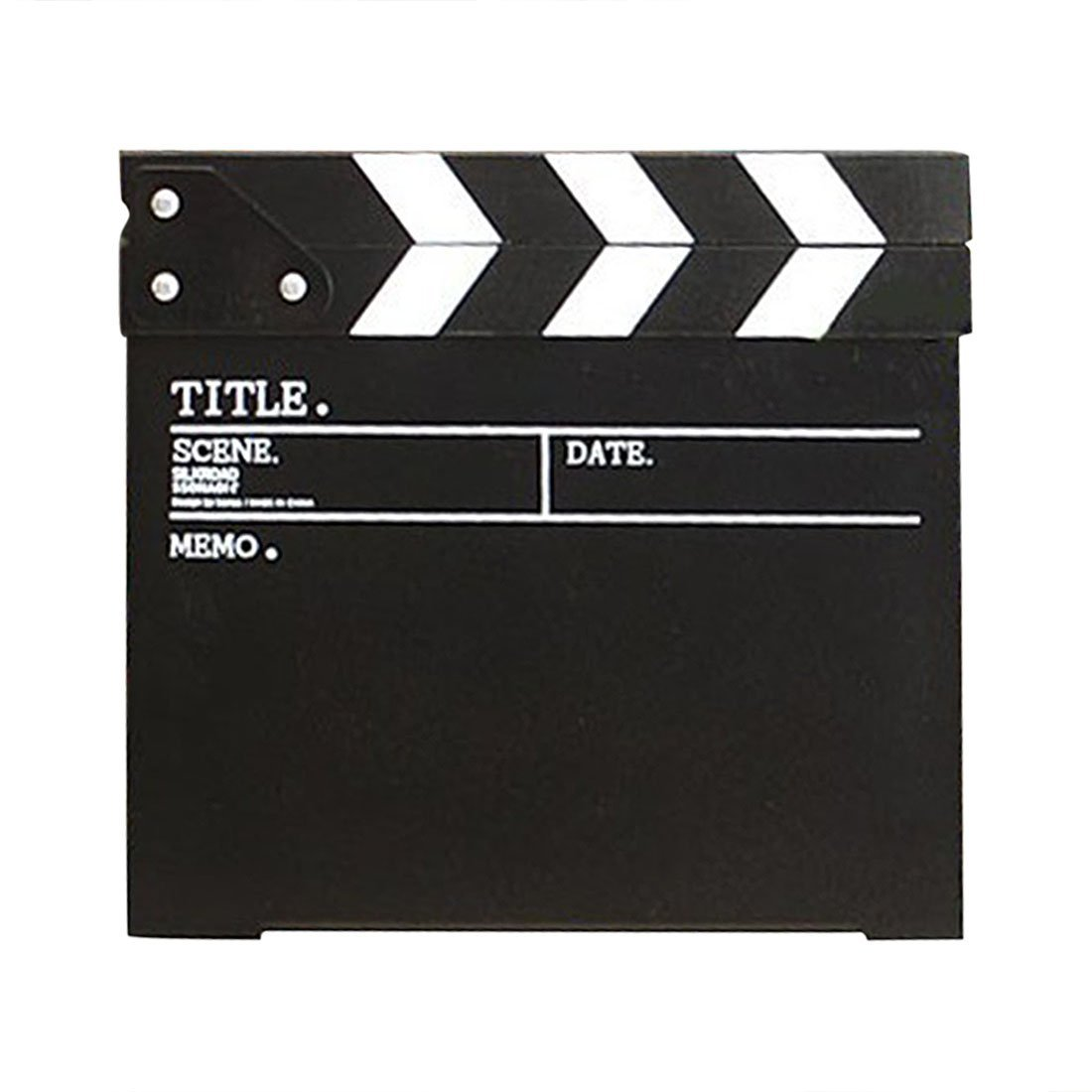 Clapboard, Yamix Wooden Director Film Clapboard Director Film Movie Cut Action Scene Slate Board Clapper Board Slate - Black
