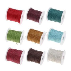 Approx 100 yards/spool sold by spool more colors for choice 1mm waxed cotton cord with plastic spool